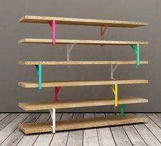 shelves using IKEA Ekby
