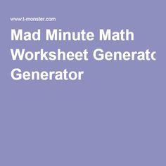 math worksheet : math worksheets generator free  math on pinterest 1st grade  : Touch Math Worksheet Generator