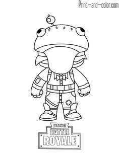 Fortnite Coloring Pages Print And Color Com Coloring Page In 2019