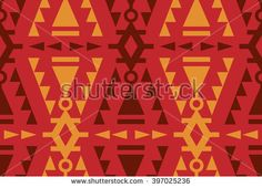 Seamless Vector Tribal Pattern for Textile Design. Stylish Ethnic Mix of Triangles