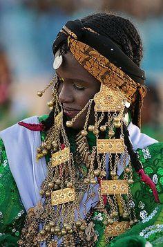 Libyan woman at Teniri Festival. Ghadames- Libya