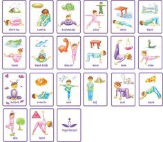 Yoga Pose cards (for kids)