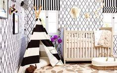 How to DIY Naya Rivera's Rad Monochromatic Nursery via Brit + Co.