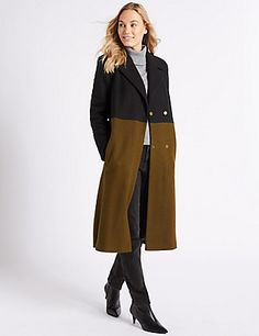 Colour Block Coat | M&S