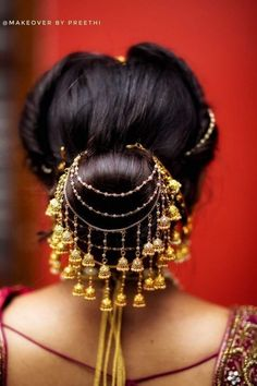 Indian Bridal Wedding Hairstyles for Short to Long Hair 2020 Indian Bridal Hairstyles, Bride Hairstyles, Pretty Hairstyles, South Indian Bride Hairstyle, Simple Hairstyles, Hair Accessories For Women, Wedding Hair Accessories, Bridal Hair Buns, Indian Wedding Jewelry