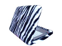 Funda laptop en peluche cebra, se hacen a medida de tu compu