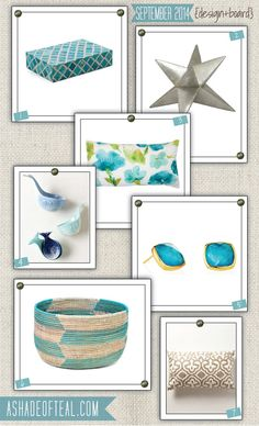 September {2014} Design Board | A Shade Of Teal