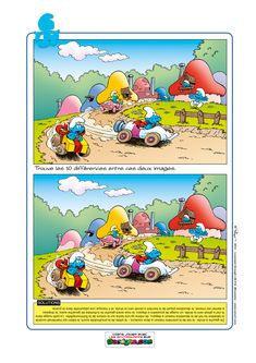 This is the official Smurfs site! Welcome to the village where the Smurfs live. Discover their universe and have fun with them. Find 10 Differences, Spot The Difference Kids, Dots And Boxes, Smurf Village, Magic Squares, Paper Puppets, Number Puzzles, Hidden Pictures, Activity Sheets
