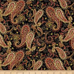 Designed by Color Principle for Henry Glass, this fabric is perfect for quilting, apparel and home decor accents. Colors include shades of red, green, yellow, white, black, and metallic gold.