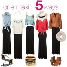 Five ways to style a maxi skirt