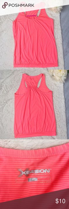 Xersion Tank Top Xersion Tank Top  Size M Excellent Used Condition! Neon pink/orange in person!  Feel free to ask for measurements!  MAKE AN OFFER!l Xersion Tops Tank Tops
