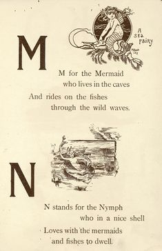 "Fairyland ABC - Father Tuck's ""Alphabet"" Series, ""M for Mermaid, N for Nymph"". I wish I learned the alphabet like this. So magical! Real Mermaids, Mermaids And Mermen, Fantasy Mermaids, Fairy Land, Fairy Tales, Mermaid Art, Mermaid Paintings, Mermaid Tails, Mermaid Quotes"