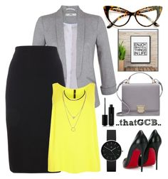 """""""..PENCIL skirt Office Wear.."""" by thatgcb ❤ liked on Polyvore featuring Miss Selfridge, Smythson, Christian Louboutin, Evans, Newgate and Marc Jacobs"""