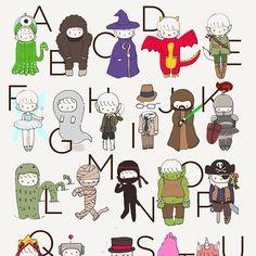 Fictional characters alphabet!