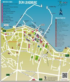Dublin Printable Tourist Map Dublin attractions Tourist map and