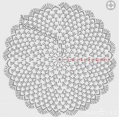New Ideas For Crochet Mandala Placemat Place Mats Diy Crochet Cardigan, Crochet Kids Scarf, Crochet Pouf, Crochet Cowl Free Pattern, Crochet Doily Diagram, Crochet Carpet, Crochet Rug Patterns, Crochet Stitches, Christmas Crochet Blanket