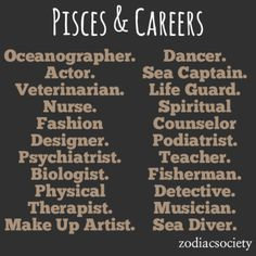 Some of these careers look cool esp. all the creative ones, but the ones like sea captain? No thanks. I don't want to die at sea no matter how much I like the water.