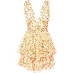 Paros Chiffon Dress | Moda Operandi ($495) ❤ liked on Polyvore featuring dresses