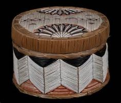 Micmac Birch Bark and Porcupine Quill Lidded Basket : Lot 4