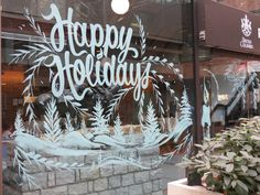 christmas window painting   Christmas is a festive time of year and in keeping with the spirit of ...