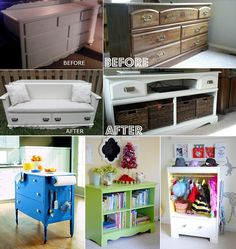 5 Ideas Were Used To Let These Old Dressers Enjoy A Second Life Http Diy Furniture Projectsrecycled
