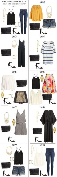 Packing Light for 10 Days in Santorini, Greece. These are the 10 Night Looks. Travel Packing Outfits, Travel Capsule, Travel Wardrobe, Vacation Outfits, Capsule Wardrobe, Vacation Packing, Vacation Wardrobe, Packing Ideas, Santorini Greece