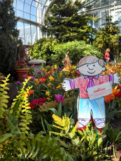 Stanley can see why Lewis Ginter was voted the number two Best Public Garden in North America!