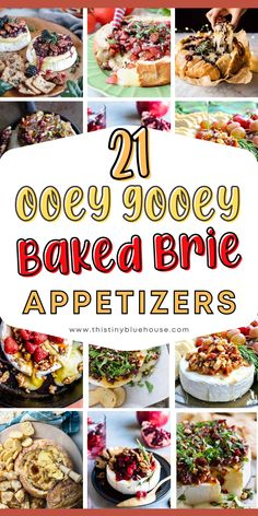 Spoil yourself with one of these  20+ sweet or savory decadent and beyond delicious baked Brie Appetizers. Deliciousness doesn't get any easier than this ooey gooey melted Brie goodness. Baked Brie Appetizer, Appetizer Dips, Best Party Appetizers, Easy Holiday Recipes, Easy Family Meals, Easy Weeknight Dinners, Favorite Recipes, Baking, Recipe Ideas