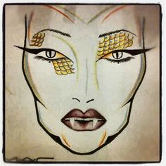 Halloween Makeup Ideas: Instabeauties- Intagram Macgirls @Jade Arnold Mac Face Chart