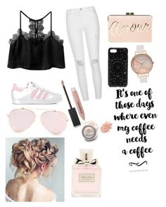 Designer Clothes, Shoes & Bags for Women One Of Those Days, Need Coffee, Olivia Burton, Christian Dior, River Island, Burberry, Adidas, Polyvore, Shopping