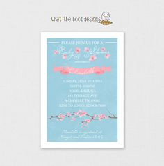Printable Baby Shower or Birthday Invitation by whatthehootdesigns, $7.00