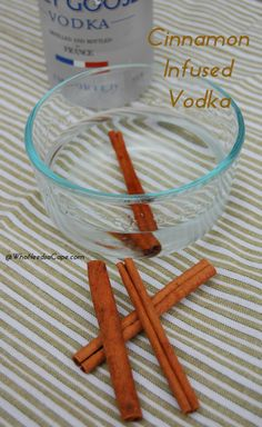 Cinnamon Infused Vodka - warm up your drinks this fall with cinnamon flavor - YUM (so easy must pin!)