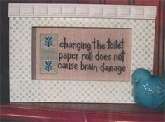Toilet Paper (with charm) - Cross Stitch Pattern