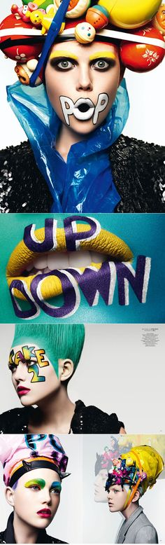 See our favourite pop art makeup tutorial http://www.burlexe.com/amazing-roy-lichtenstein-make-up-tutorial/