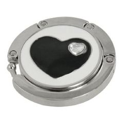 Amico Rhinestone Accent Black Heart White Silver Tone Round Handbag Hook by Amico. $6.01. Style : Foldable;Suitable for : Lady. Size : Small;Size Type : Regular. Height : 7.2cm/ 2.8 inches;Material : Plastic, Metallic,Rubber;Net Weight : 41g. Package Content : 1 x Handbag Hook;Pattern : Hearts;Shade : White. Brand : SourcingMap;Color : White;Exact Color : Black,Silver Tone. Feature: Heart Shape Rhinestone Accent heart pattern, Round Handbag Hook. Magnetic design ...