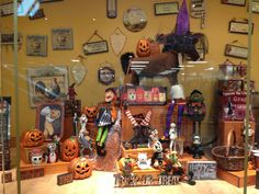 Halloween Window Display at The Old Farmer's Almanac General Store.