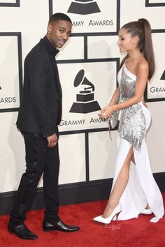 Best Shod Celebrity Couples: Big Sean and Ariana Grande. He's in Saint Laurent; she's in all Versace. Big Sean and Ariana Grande are a match made in stylists' heaven at the 2015 Grammy Awards.