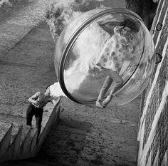 "mygitah: ""mangodebango: "" ""New York to Paris Fashion Bubble"" with Dorothea McGowan. Photography by Melvin Sokolsky, Harper's Bazaar, Spring, Paris, France, 1963. "" I just Knew Wayne Coyne Didn't Do..."