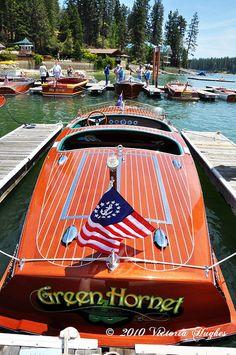 Classic Wooden Boat bass Lake Boat Show 2010 - 1979 21' Green Hornet| Philbrick|...LLA♡☆♡