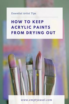 How to Keep Acrylic Paints from Drying Out on Your Palette 11 Essential tips to stop your acrylic pa Acrylic Tips, Watercolor Tips, Acrylic Painting Techniques, Acrylic Painting Tutorials, Oil Painting Abstract, Acrylic Art, Acrylic Painting Canvas, Diy Painting, Beginner Painting