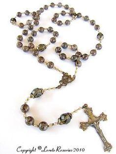 Beautiful vintage look rosaries