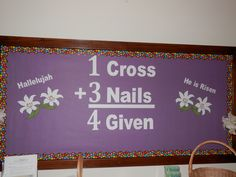 17 best images about sunday school bulletin boards on Religious Bulletin Boards, Bible Bulletin Boards, Easter Bulletin Boards, Christian Bulletin Boards, Bulletin Board Design, Classroom Bulletin Boards, Bulletin Board Ideas For Church, Classroom Decor, Classroom Design