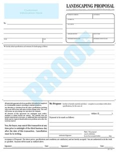 Personalized  Or  Part Ncr Proposal Form By Budgetcollections