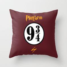 Harry Potter-Platform 9&3/4-II Throw Pillow by IIIIHiveIIII - $20.00
