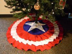 Captain America tree skirt.