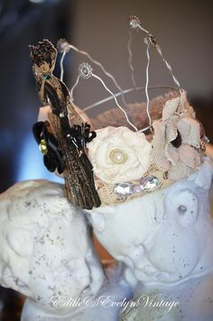 Handmade Wire Crown Photo Prop Party Dress up by edithandevelyn on Etsy