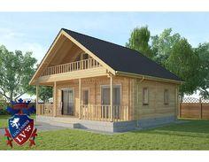 Vacation wooden house - Lesena počitniška hiša Kozina 7.8m x 7.15m http://www.brunarice-lv.si/izdelki/stanovanjske-brunarice/lesena-po-itni-scaron-ka-hi-scaron-a-kozina-7-8m-x-7-15m.html