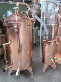 The Essential Oil Company - 15 Gallon Copper Distiller With Glass Essencier