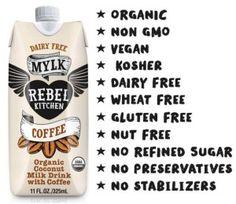 Rebel Kitchen Dairy-Free Coconut Mylk Drink - Just 4 ingredients! Soy-free, Vegan and Paleo, too