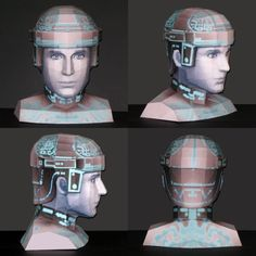 #Papercraft #KingdomHearts #Tron Bust Paper Toys, Paper Crafts, Kingdom Hearts Characters, Paper Models, Model Release, Print And Cut, Pop Culture, Sci Fi, Geek Stuff